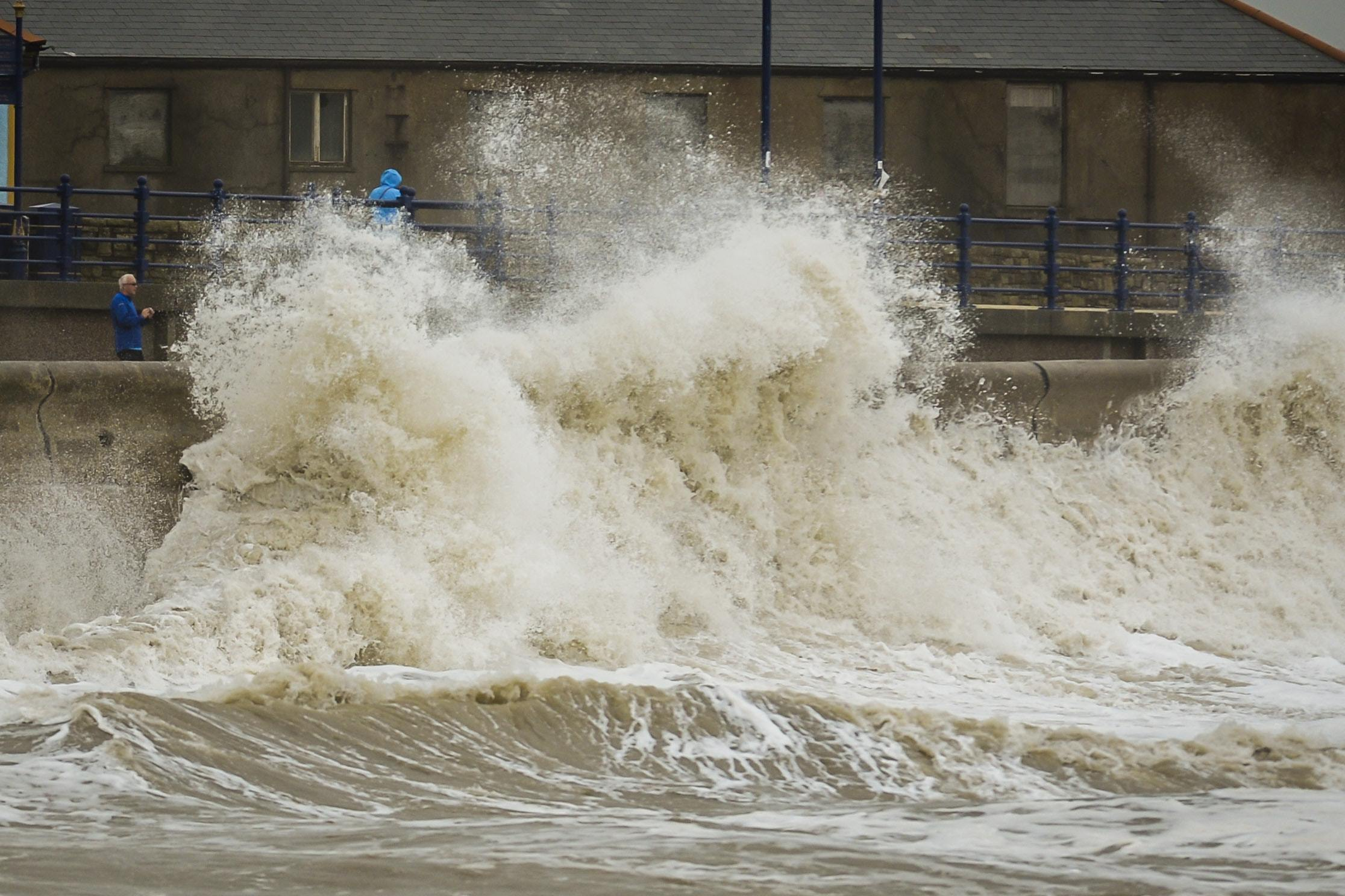 Storm Bronagh Brings Gale-Force Winds And Flooding To England And Wales